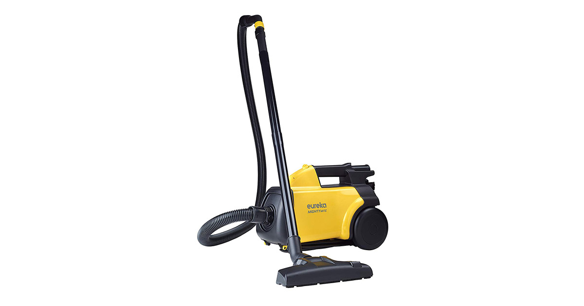 EUREKA Mighty Mite 3670G Corded Yellow Pet Canister Vacuum Cleaner image