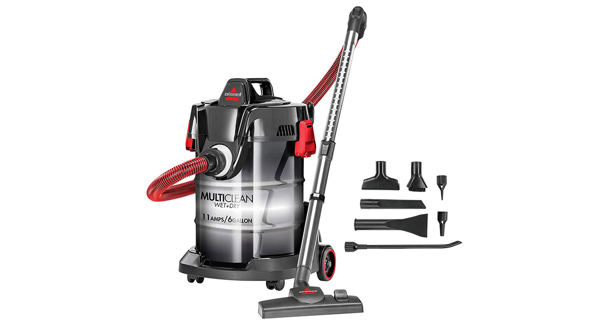 Bissell 2035M MultiClean Wet or Dry Garage and Auto Red Vacuum Cleaner image