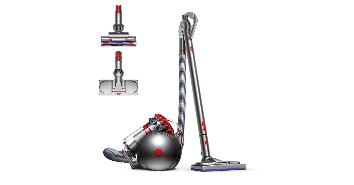 Dyson Big Ball Musclehead Red Canister Vacuum Cleaner image