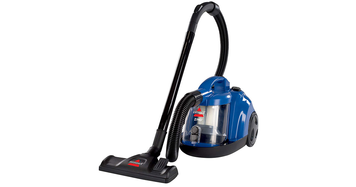 Bissell 6489 Zing Rewind Bagless Corded Caribbean Blue Canister Vacuum Cleaner image