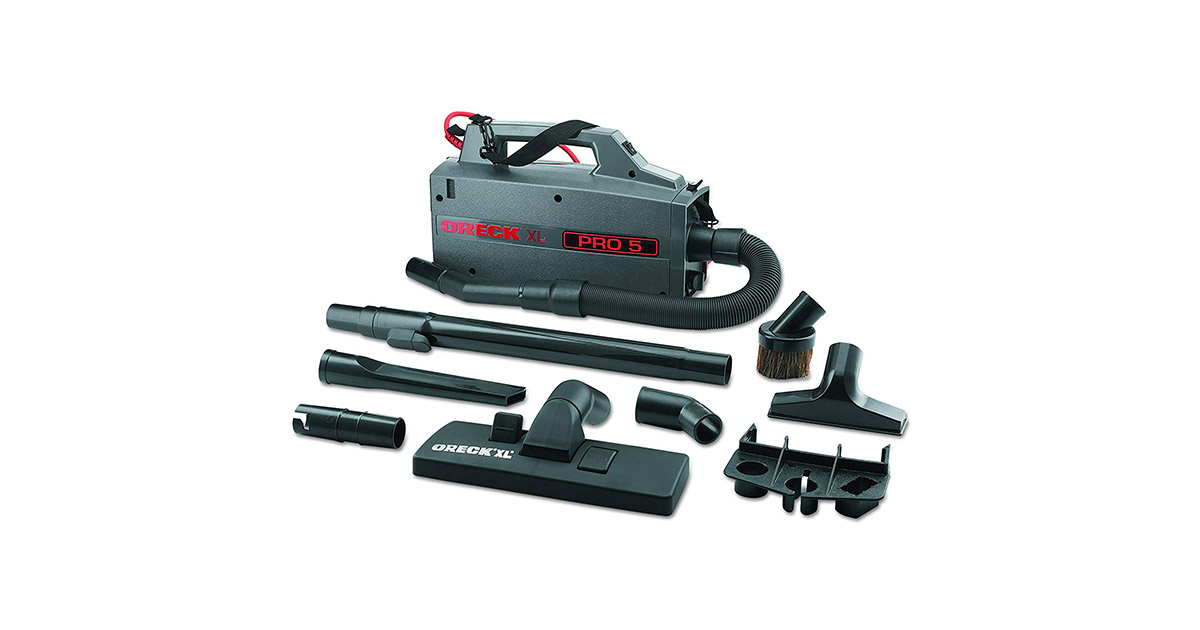 Oreck Commercial BB900DGR XL Pro 5 Super Compact Canister Vacuum Cleaner image