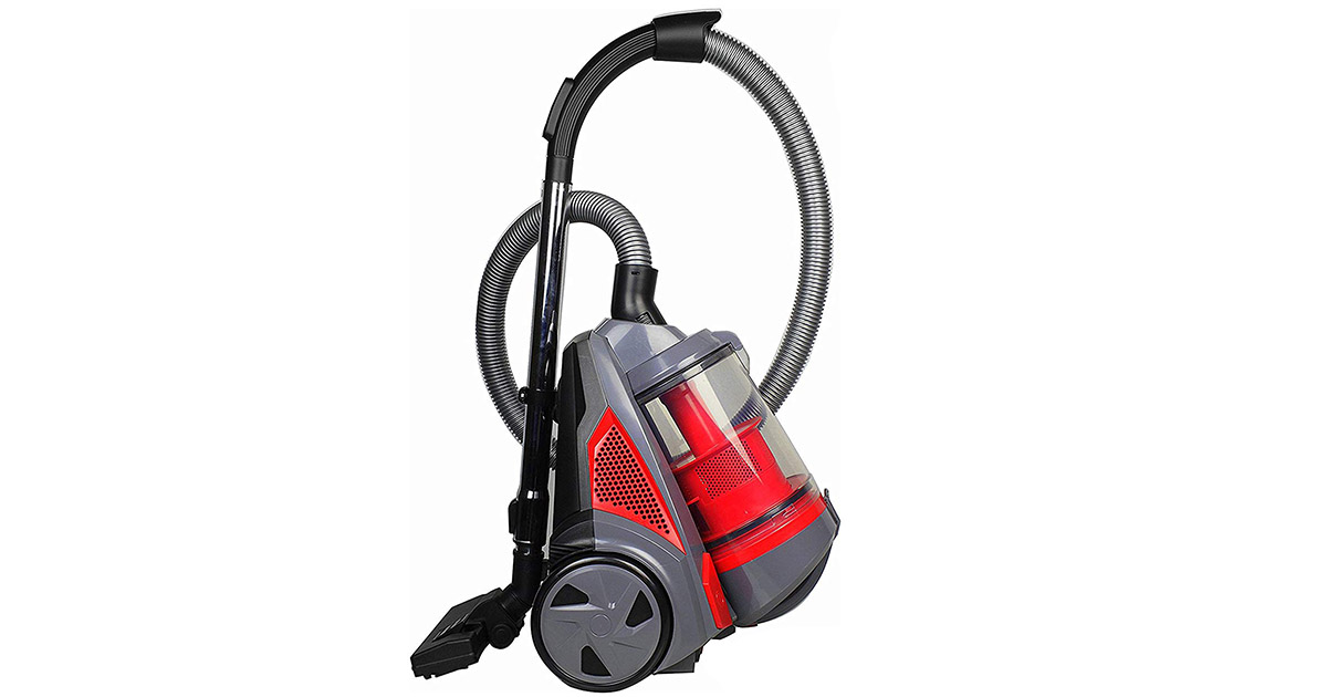 Ovente ST2620R HEPA Filter Bagless Canister Cyclonic Vacuum Cleaner image
