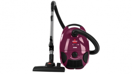 Bissell Zing Bagged Canister Vacuum Cleaner 4122, Purple – Perfect for Multi-surface cleaning!